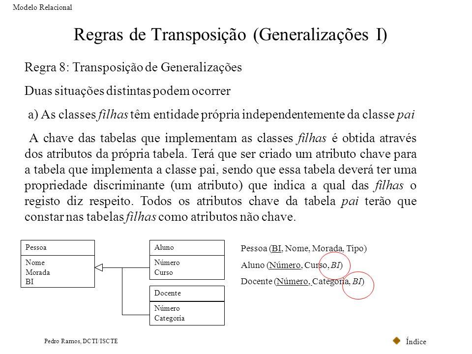 Regras de Transposição (Generalizações I)