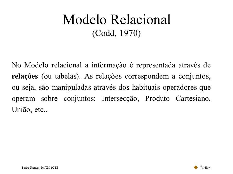 Modelo Relacional (Codd, 1970)