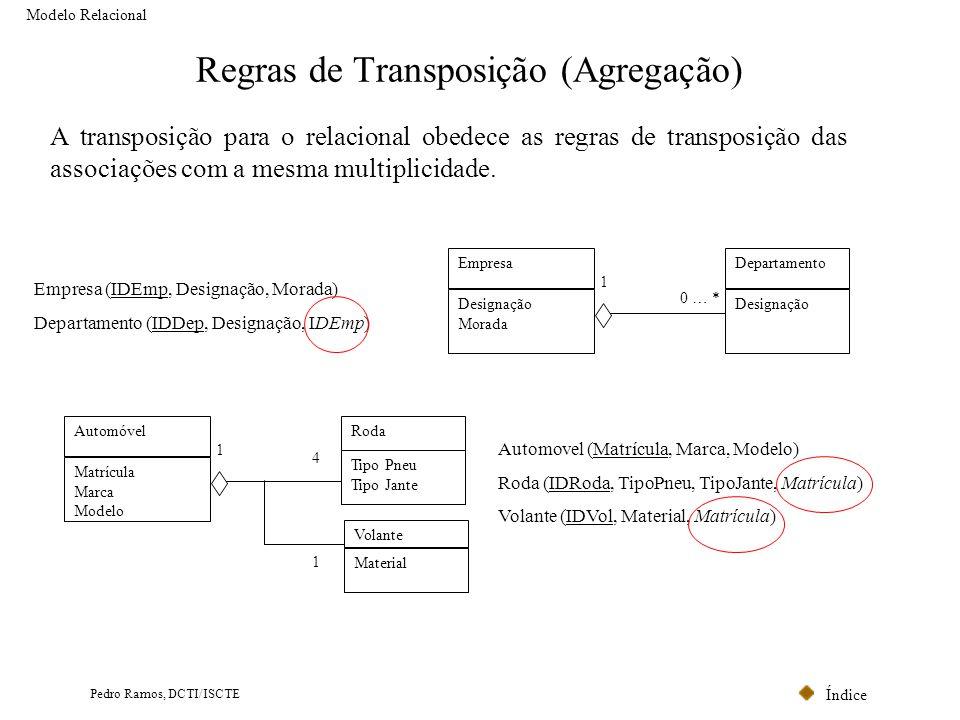 Regras de Transposição (Agregação)