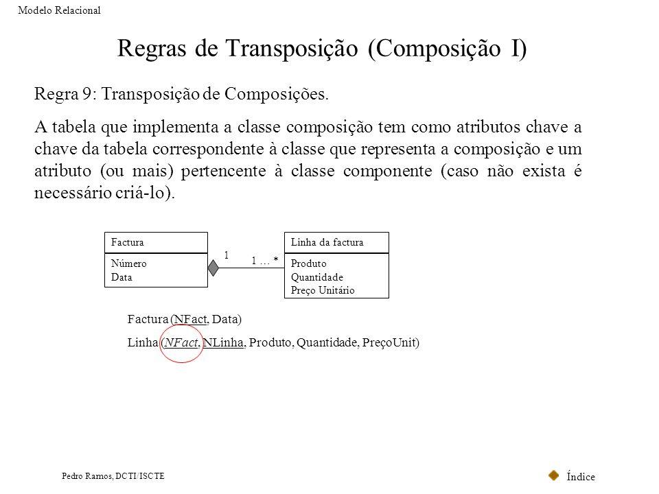 Regras de Transposição (Composição I)
