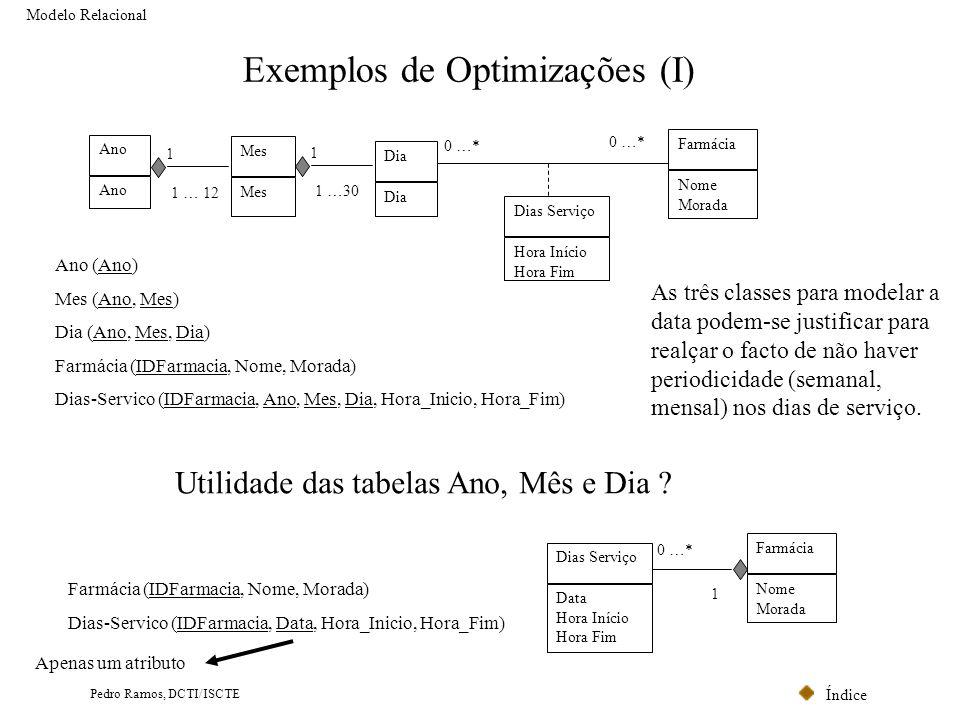Exemplos de Optimizações (I)