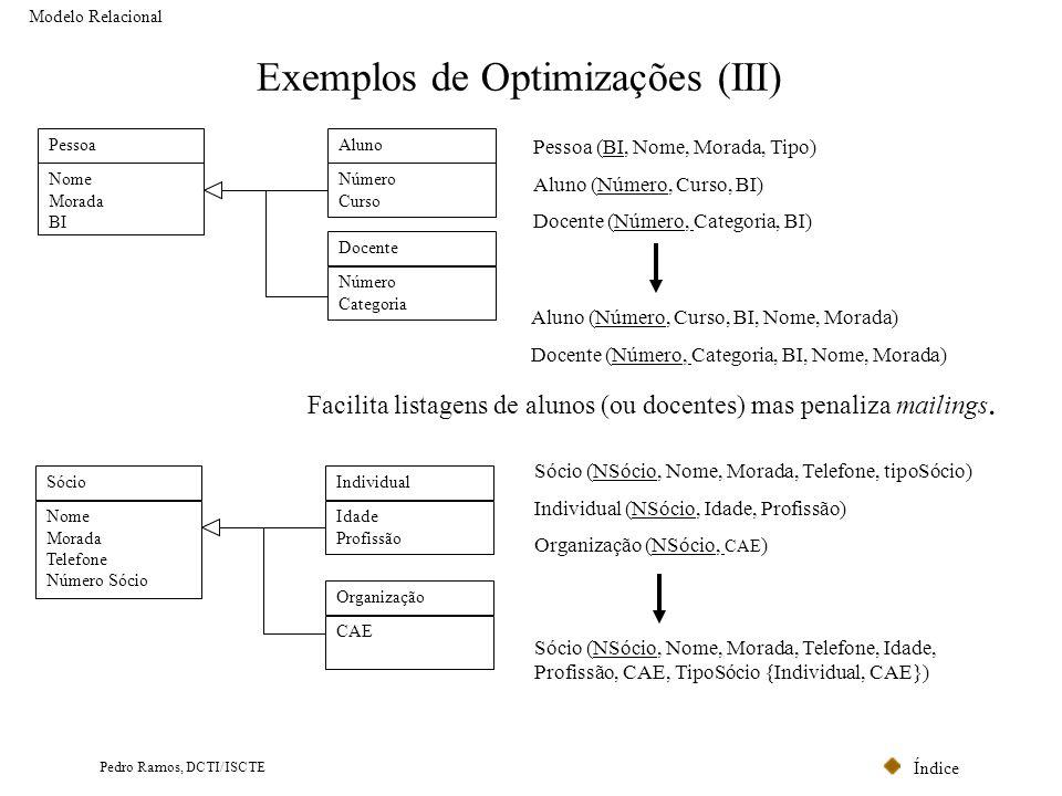 Exemplos de Optimizações (III)
