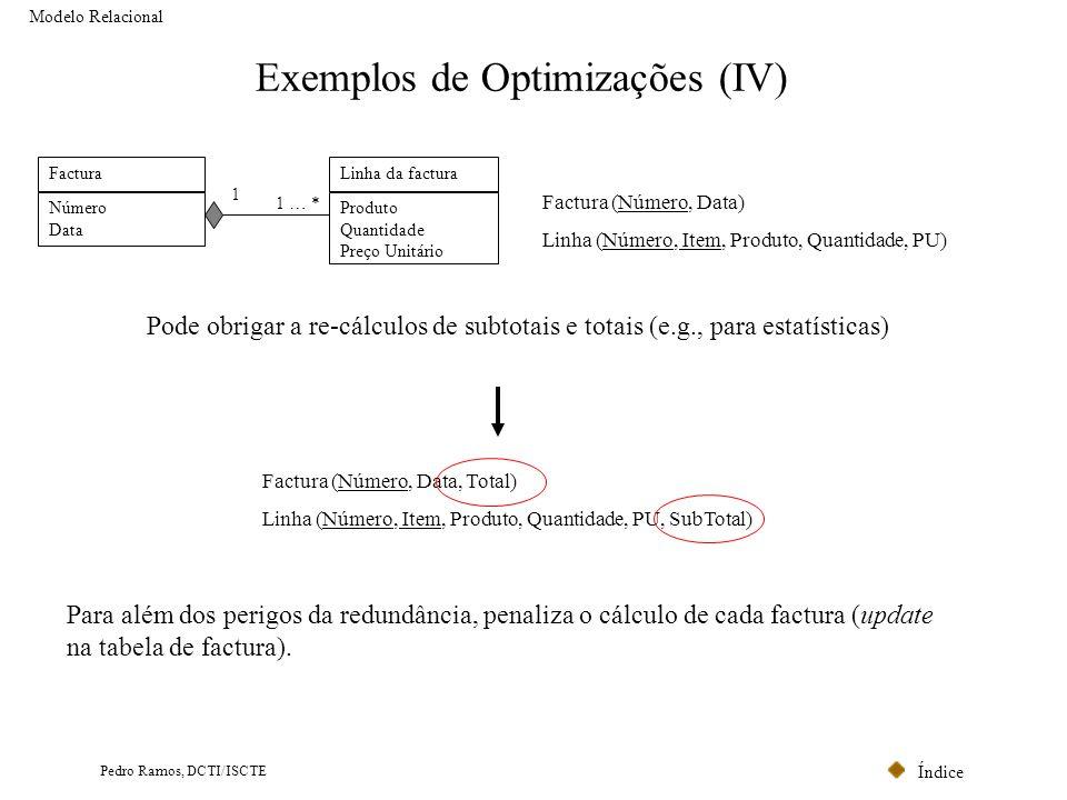 Exemplos de Optimizações (IV)