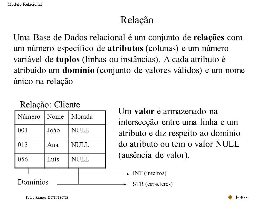 Modelo Relacional Relação.