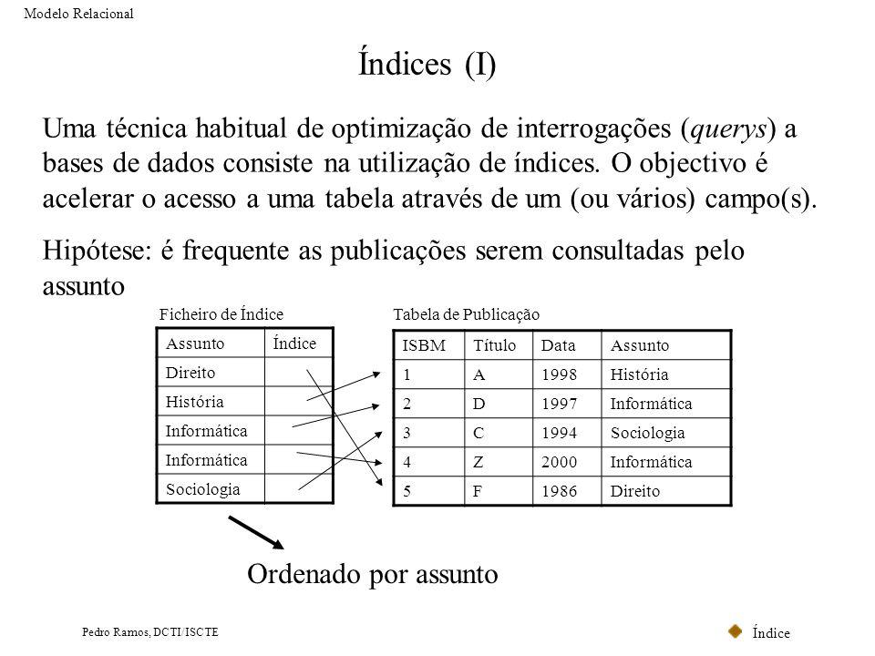 Modelo Relacional Índices (I)
