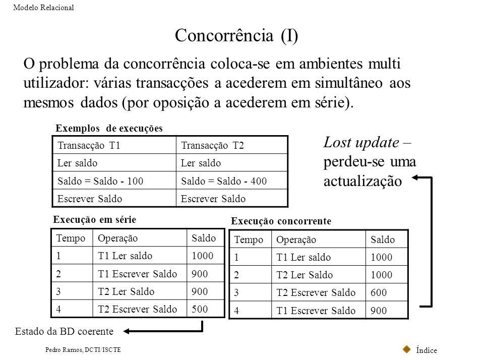 Modelo Relacional Concorrência (I)