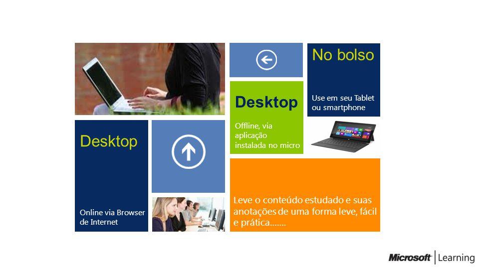 No bolso Desktop Desktop