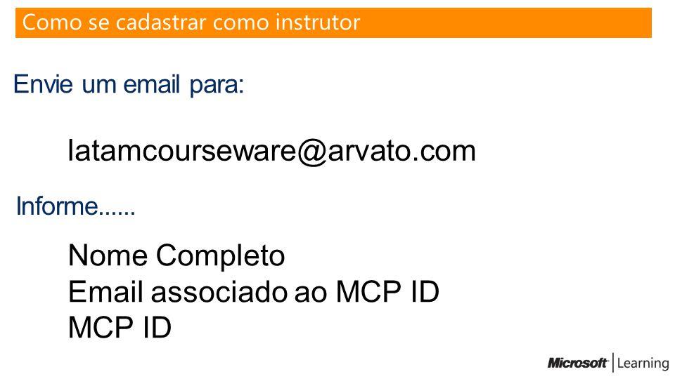 Email associado ao MCP ID MCP ID