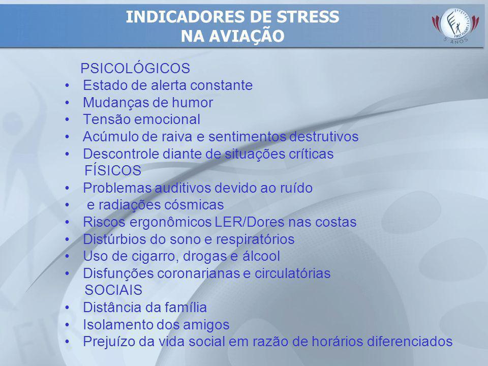 INDICADORES DE STRESS NA AVIAÇÃO