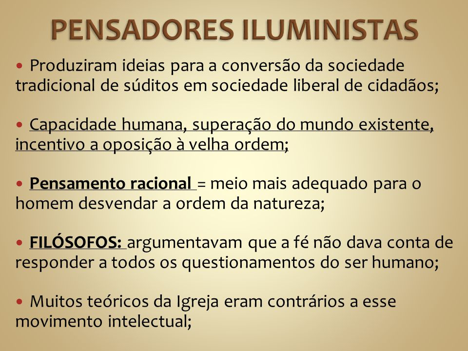 PENSADORES ILUMINISTAS