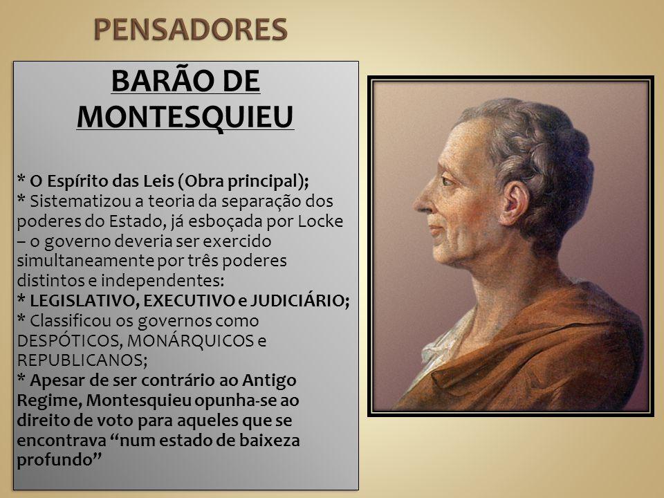 PENSADORES BARÃO DE MONTESQUIEU