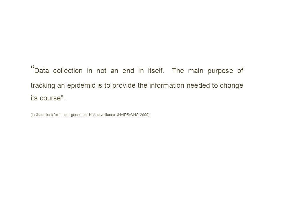 Data collection in not an end in itself
