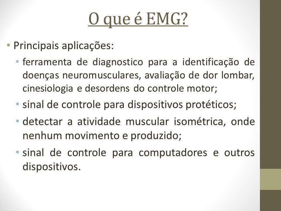 O que é EMG Principais aplicações: