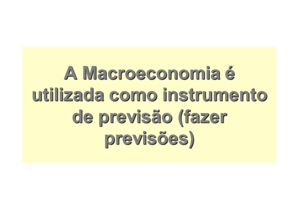 A Macroeconomia é utilizada como instrumento de previsão (fazer previsões)