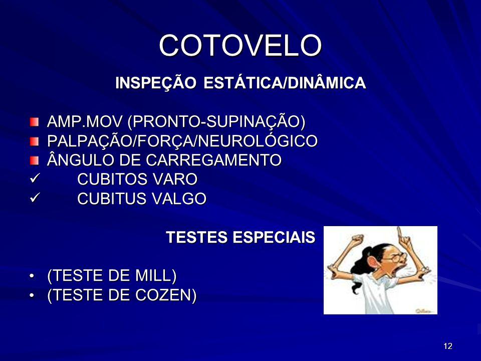 INSPEÇÃO ESTÁTICA/DINÂMICA
