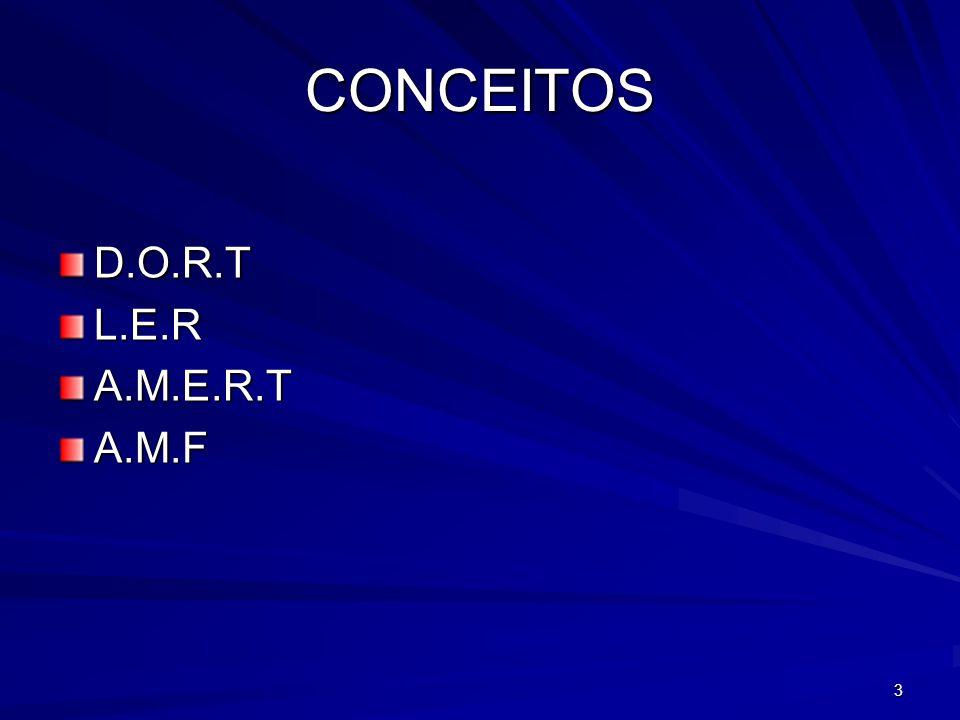 CONCEITOS D.O.R.T L.E.R A.M.E.R.T A.M.F 3