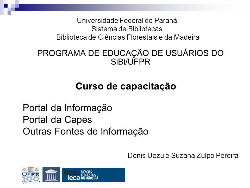 PROGRAMA DE EDUCAÇÃO DE USUÁRIOS DO SiBi/UFPR