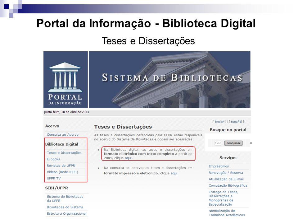 Portal da Informação - Biblioteca Digital