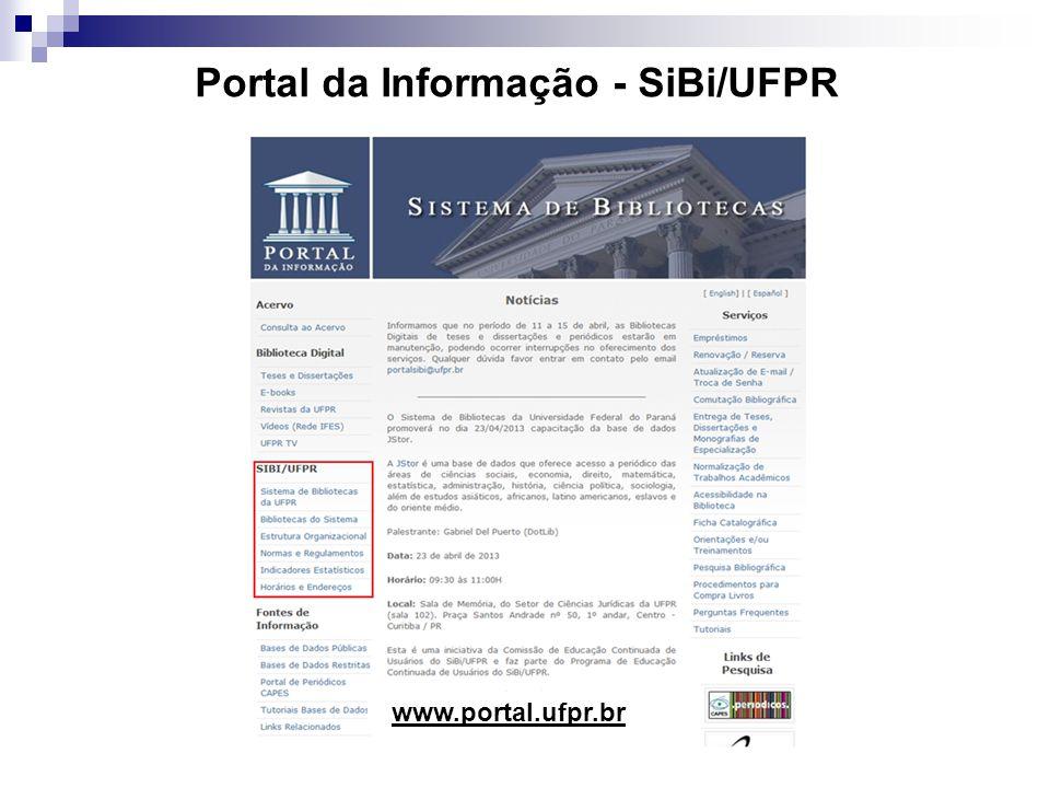 Portal da Informação - SiBi/UFPR