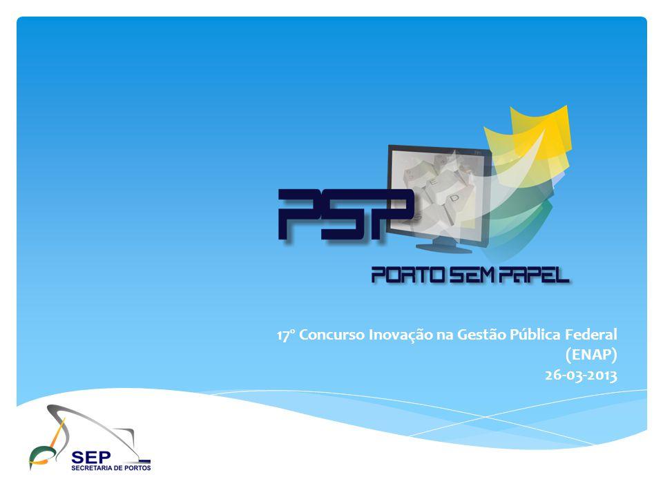 17º Concurso Inovação na Gestão Pública Federal (ENAP)