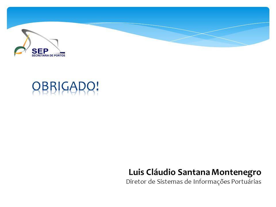 OBRIGADO! Luis Cláudio Santana Montenegro