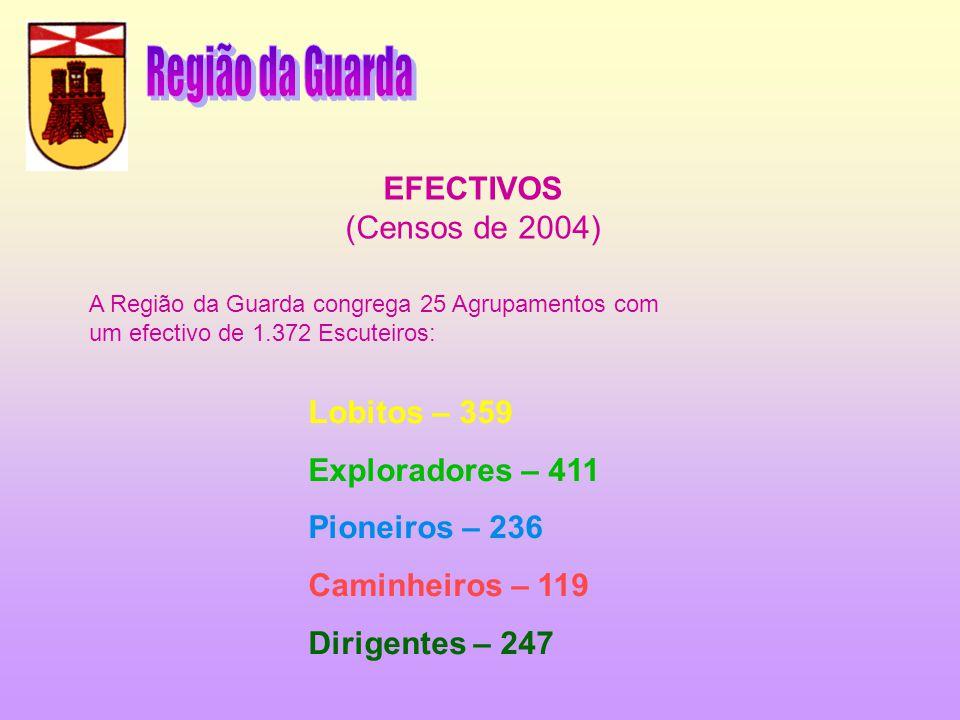 Região da Guarda EFECTIVOS (Censos de 2004) Lobitos – 359