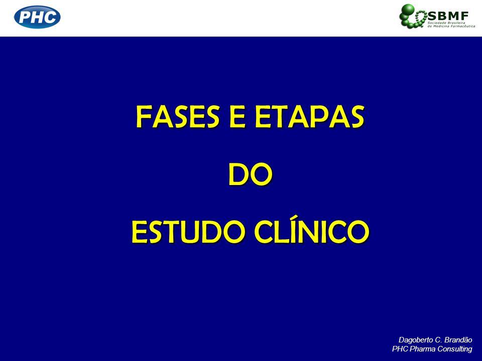 FASES E ETAPAS DO ESTUDO CLÍNICO Dagoberto C. Brandão