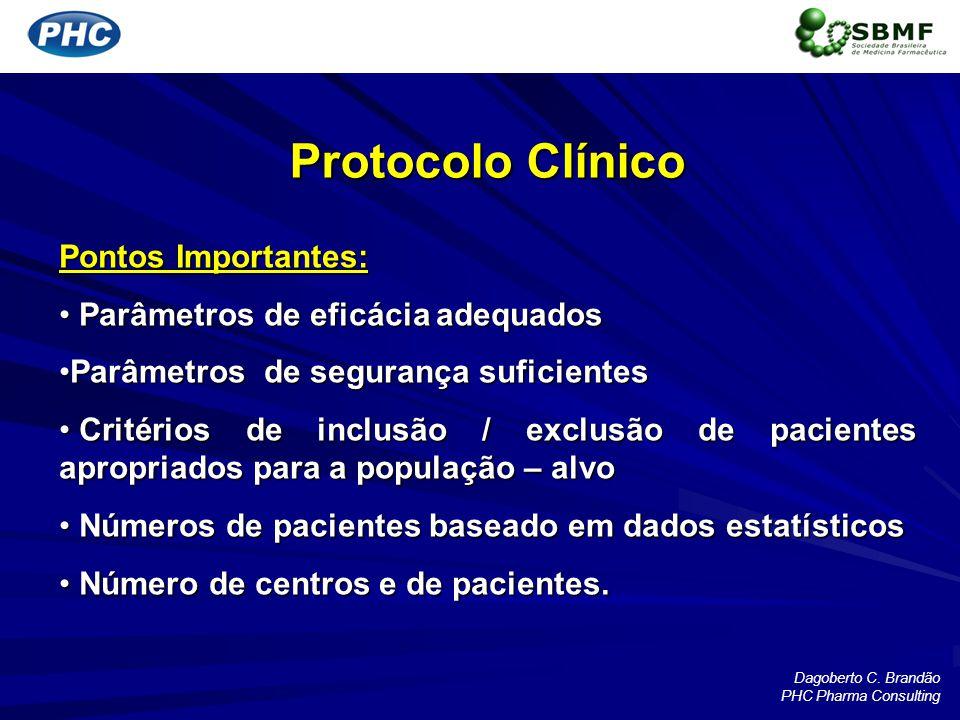 Protocolo Clínico Pontos Importantes: Parâmetros de eficácia adequados