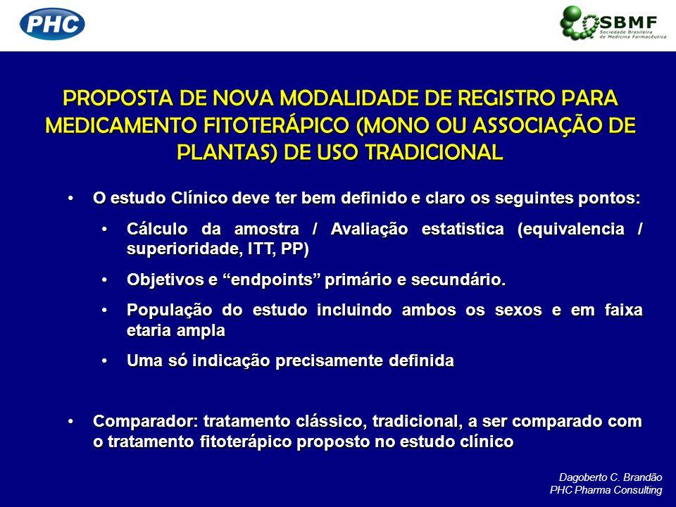 PROPOSTA DE NOVA MODALIDADE DE REGISTRO PARA MEDICAMENTO FITOTERÁPICO (MONO OU ASSOCIAÇÃO DE PLANTAS) DE USO TRADICIONAL