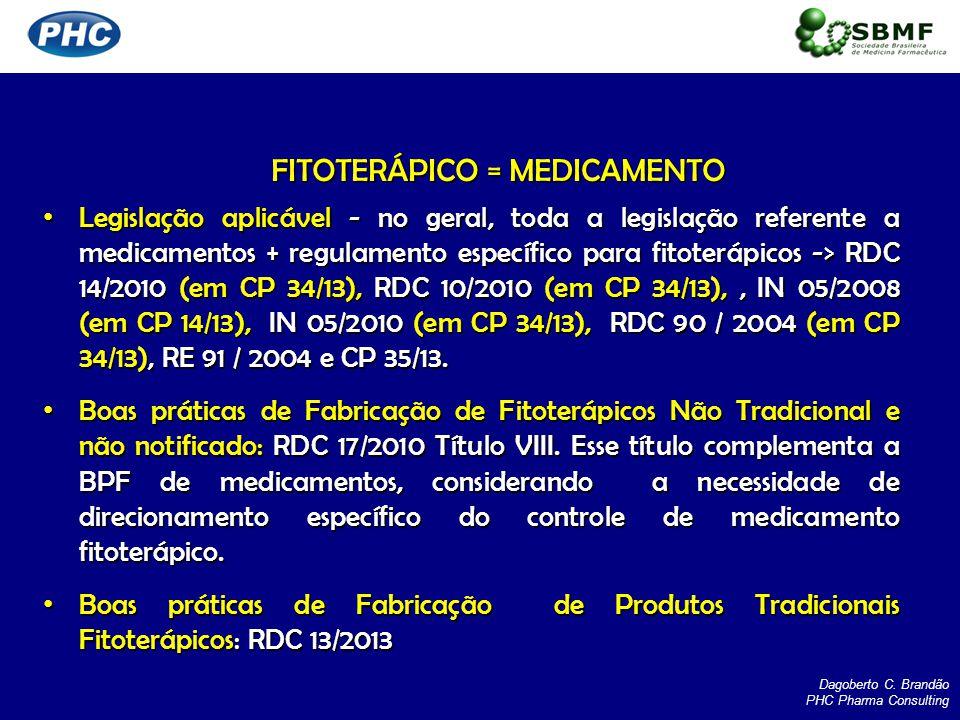 FITOTERÁPICO = MEDICAMENTO