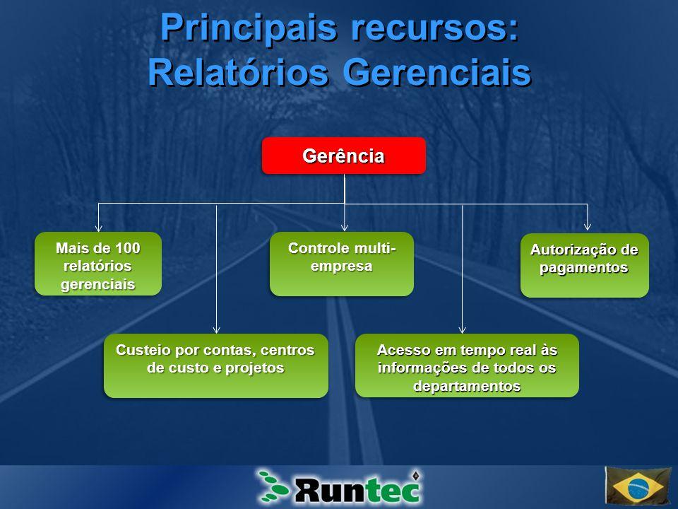 Principais recursos: Relatórios Gerenciais