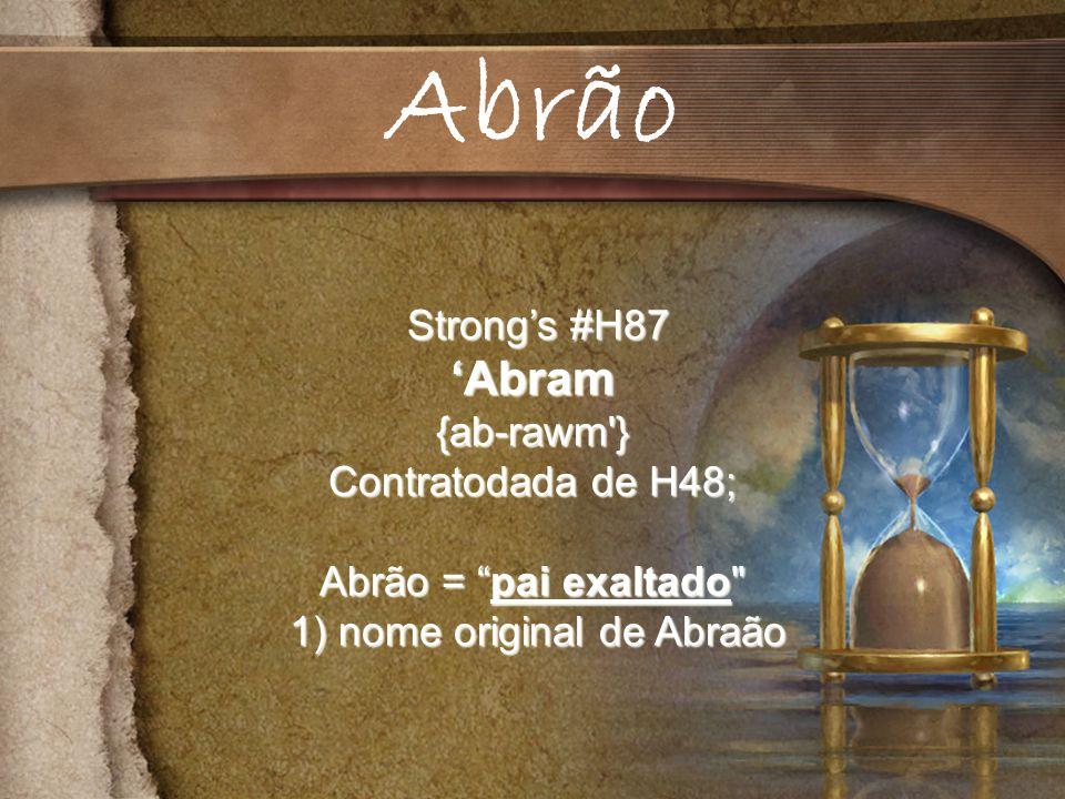1) nome original de Abraão