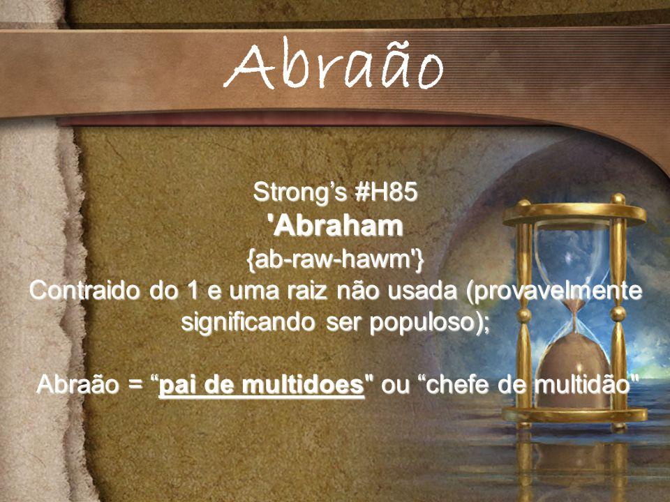 Abraão = pai de multidoes ou chefe de multidão