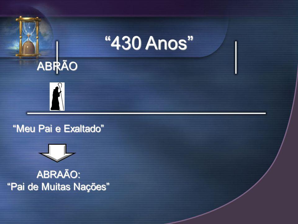 430 Anos ABRÃO Meu Pai e Exaltado ABRAÃO: Pai de Muitas Nações