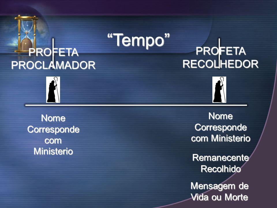 Tempo PROFETA PROFETA PROCLAMADOR RECOLHEDOR