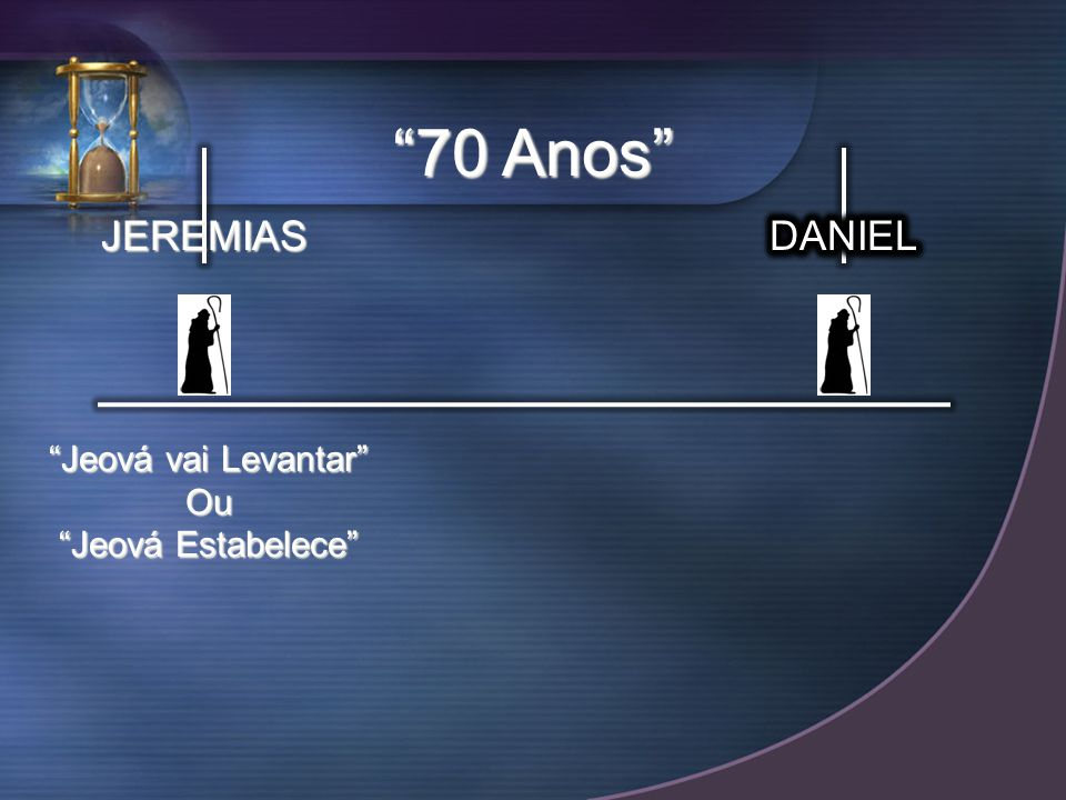 70 Anos JEREMIAS DANIEL Jeová vai Levantar Ou Jeová Estabelece