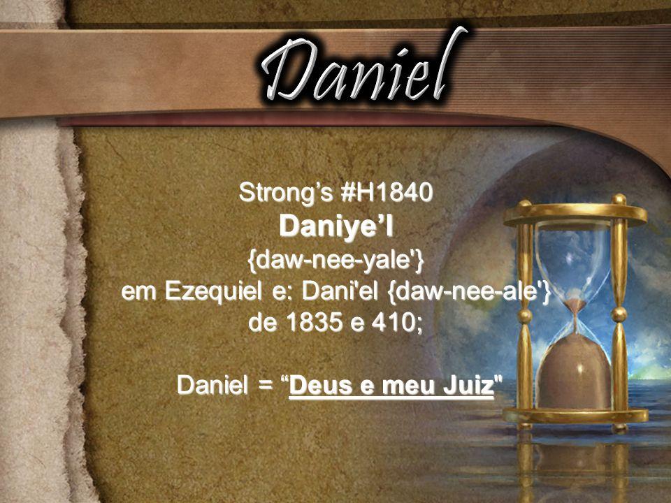 Daniel Daniye'l Strong's #H1840 {daw-nee-yale }