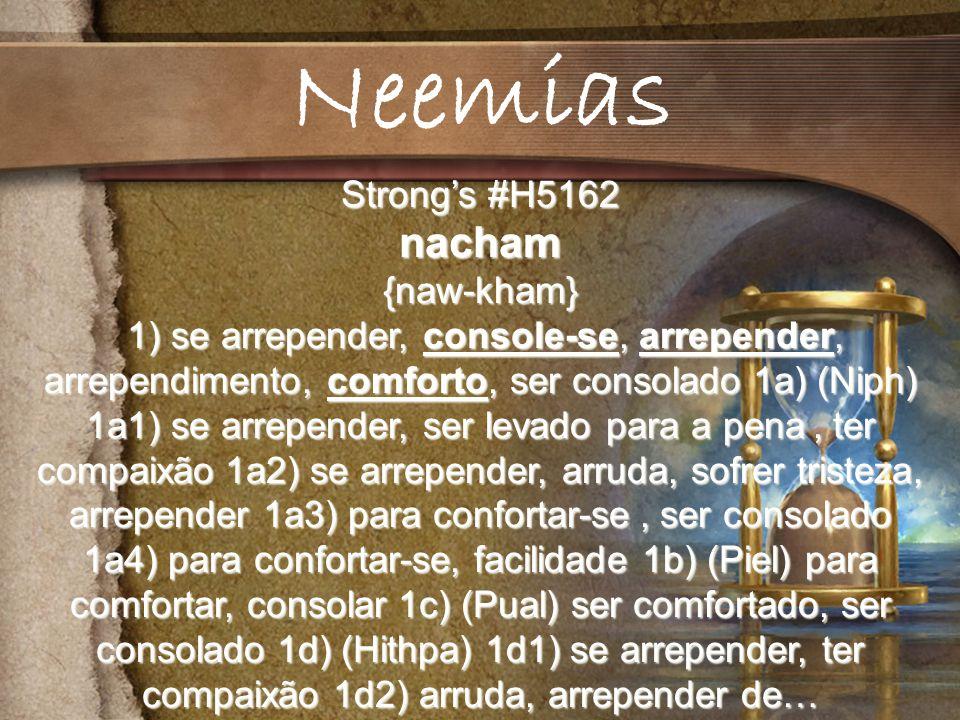 Neemias nacham Strong's #H5162 {naw-kham}