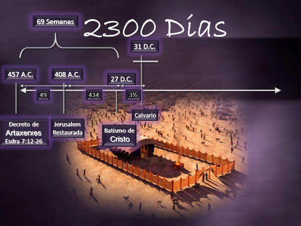 2300 Dias 69 Semanas 31 D.C. 457 A.C. 408 A.C. 27 D.C. 49 434 3½