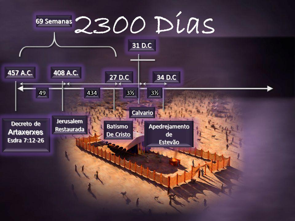 2300 Dias 69 Semanas 31 D.C 457 A.C. 408 A.C. 27 D.C 34 D.C 49 434 3½