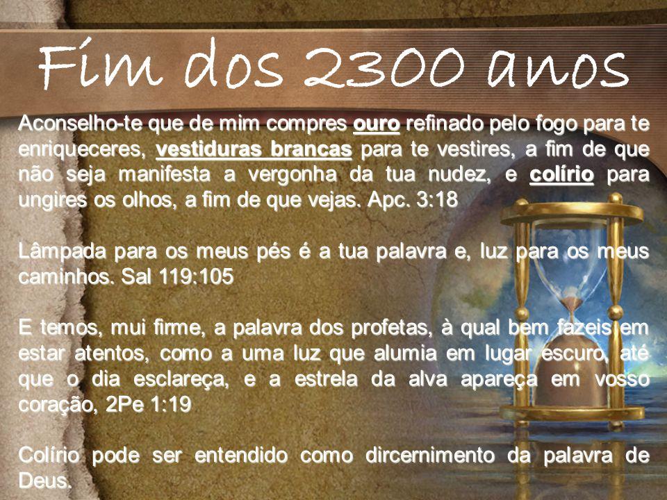 Fim dos 2300 anos