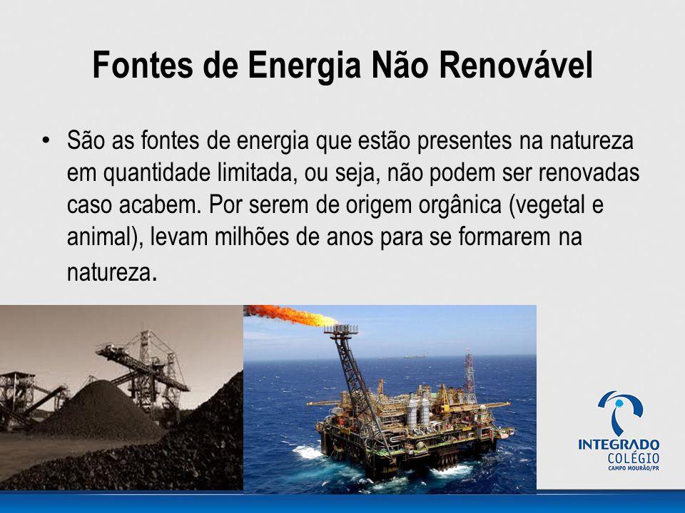 Fontes de Energia Não Renovável
