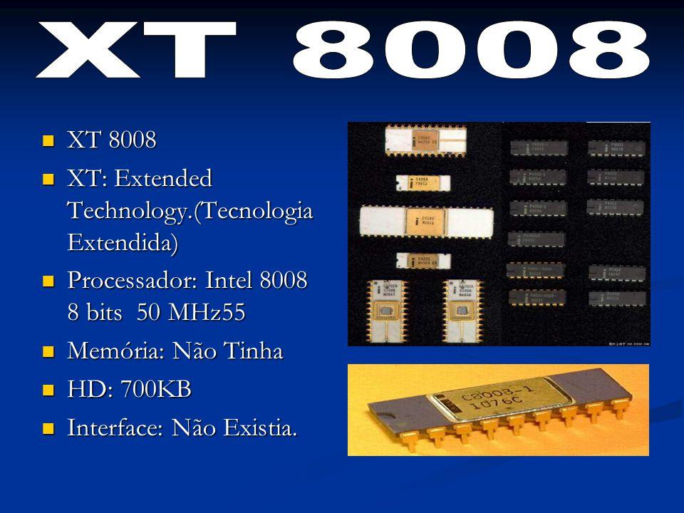 XT 8008 XT 8008 XT: Extended Technology.(Tecnologia Extendida)