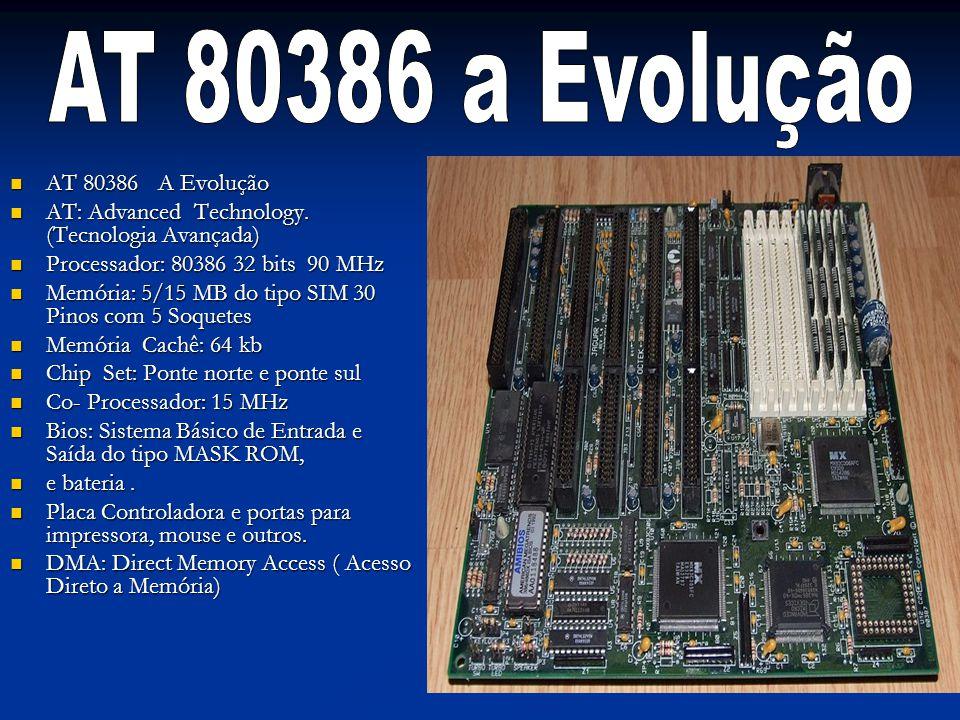 AT 80386 a Evolução AT 80386 A Evolução