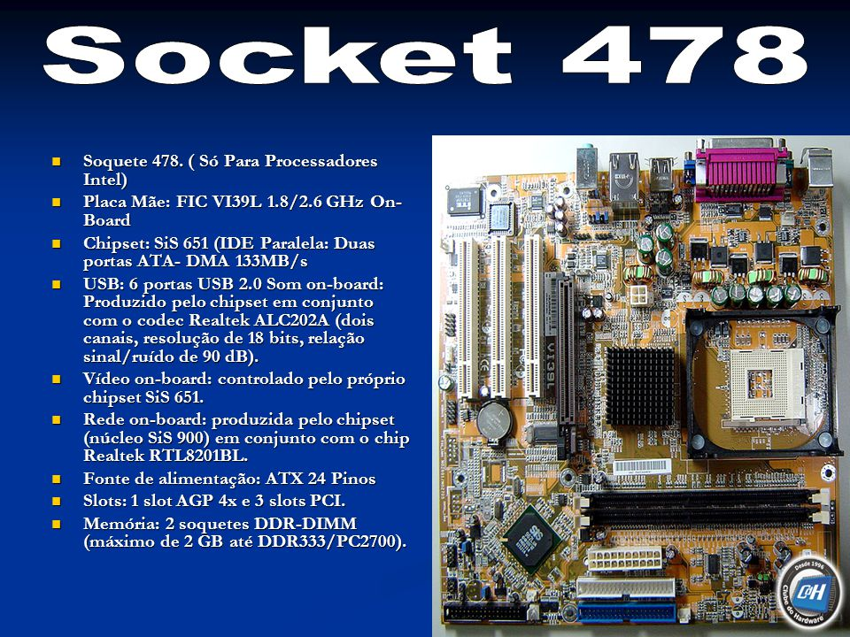Socket 478 Soquete 478. ( Só Para Processadores Intel)