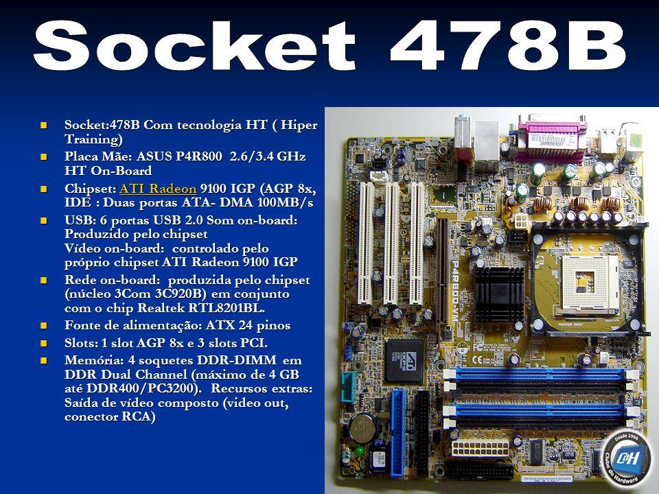 Socket 478B Socket:478B Com tecnologia HT ( Hiper Training)