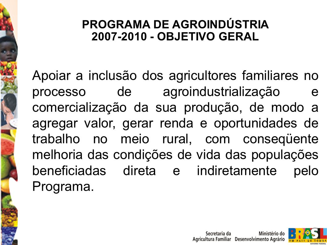 PROGRAMA DE AGROINDÚSTRIA