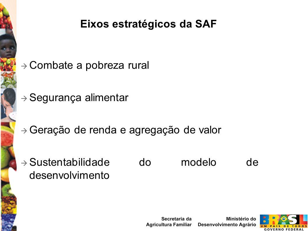 Eixos estratégicos da SAF