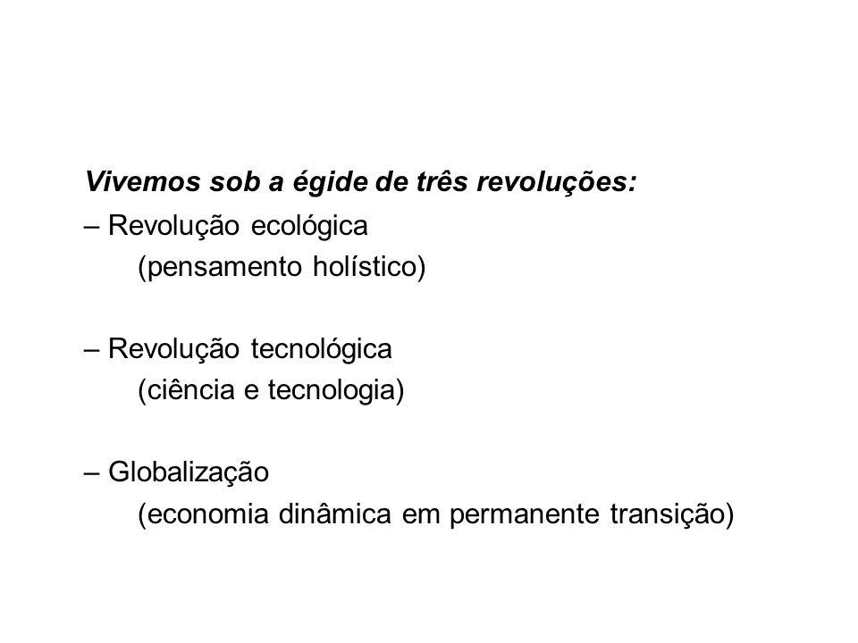 Vivemos sob a égide de três revoluções: