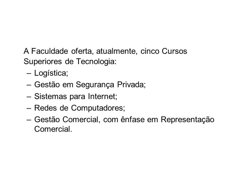 A Faculdade oferta, atualmente, cinco Cursos Superiores de Tecnologia: